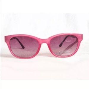 Jessica Simpson Sunglasses Square Retro Pink Black
